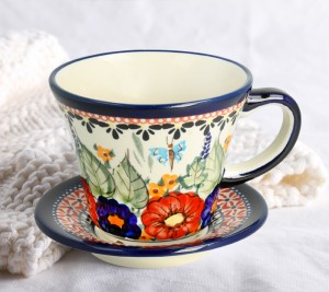 Cup and saucer V 0,24 L ø 11,7 cm GU1802DEK149Art