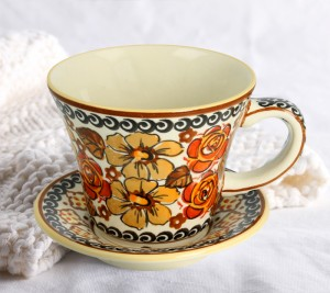 Cup and saucer V 0,24 L ø 11,7 cm GU1802DEK152Art